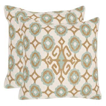 Safavieh 2-piece Taylor 20'' x 20'' Throw Pillow Set