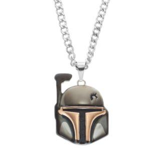 Star Wars Men's Stainless Steel Boba Fett Pendant Necklace