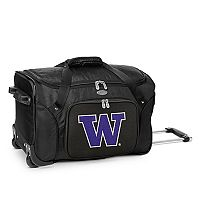 Denco Washington Huskies 22-Inch Wheeled Duffel Bag