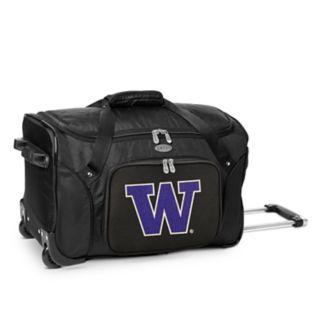 Denco Washington Huskies 22-Inch Wheeled Duffel Bag