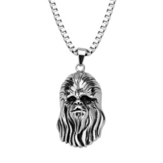 Star Wars Stainless Steel 3D Chewbacca Pendant Necklace - Men
