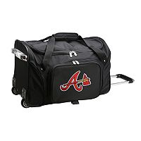 Denco Atlanta Braves 22-Inch Wheeled Duffel Bag