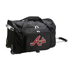 Denco Atlanta Braves 22-Inch Wheeled Duffel Bag
