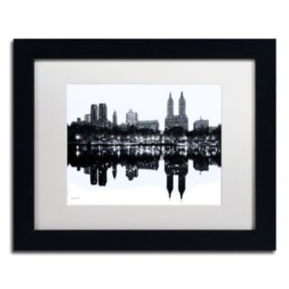 "Trademark Fine Art ""Central Park West, New York II"" Framed Canvas Wall Art"