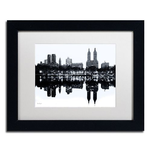 "Trademark Fine Art ""Central Park West, New York II"" Framed Canvas Wall Art"