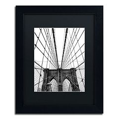 Trademark Fine Art 'Brooklyn Bridge 3' Framed Canvas Wall Art