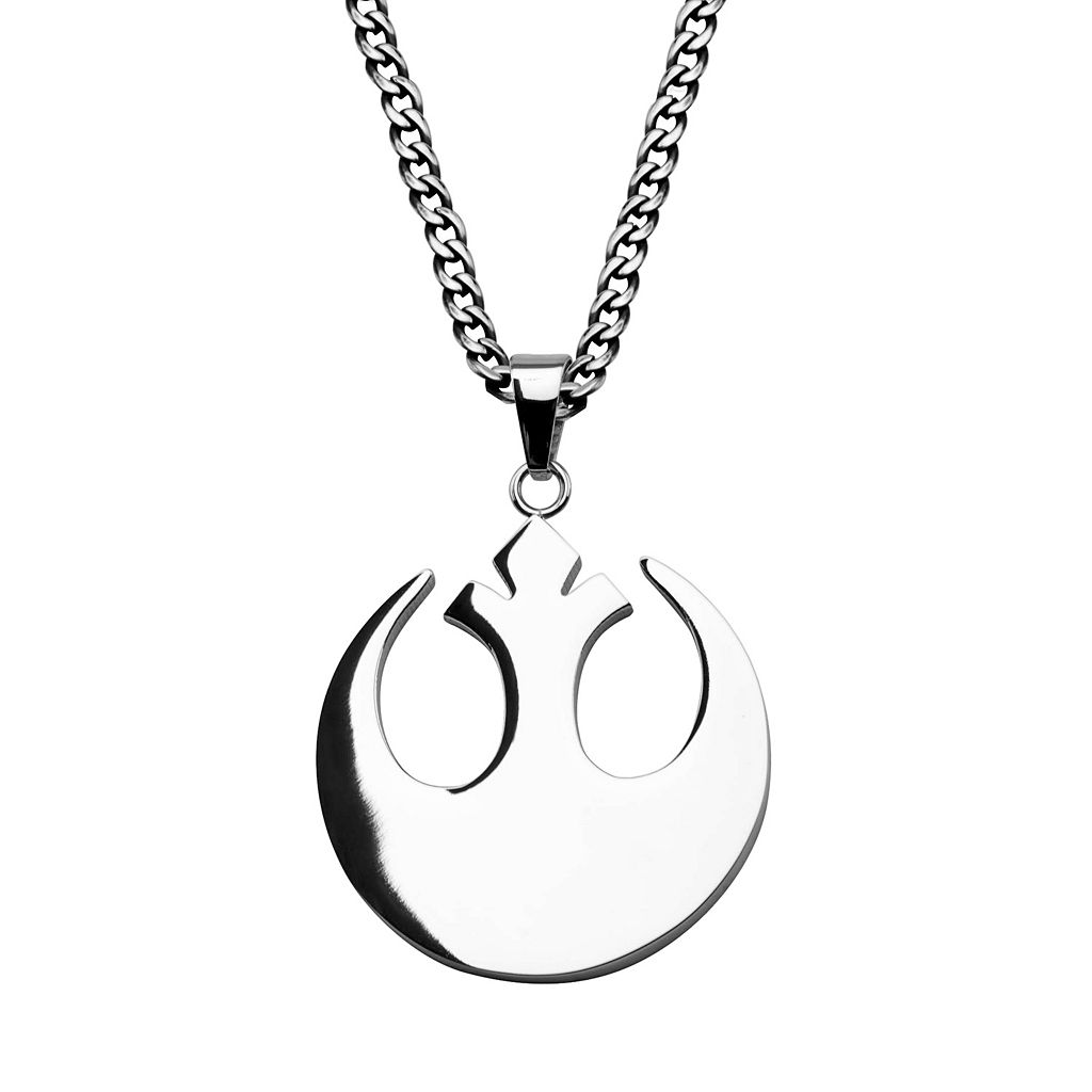 Star Wars Stainless Steel Rebel Alliance Symbol Pendant Necklace - Men