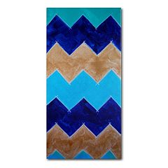 Trademark Fine Art 'Blue and Gold Chevron' Canvas Wall Art