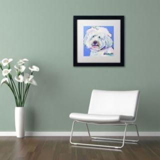 "Trademark Fine Art ""Champ"" Framed Canvas Wall Art by Pat Saunders"