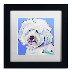 Trademark Fine Art 'Champ' Framed Canvas Wall Art by Pat Saunders