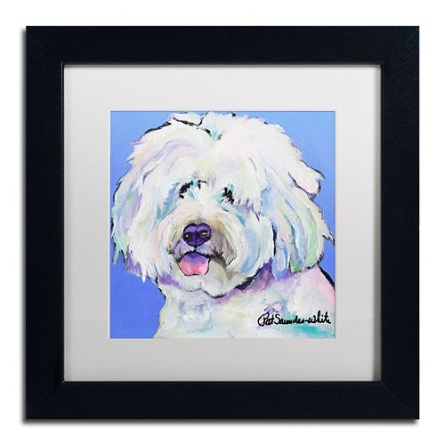 "Trademark Fine Art ""Champ"" Framed Canvas Wall Art by Pat Saunders"