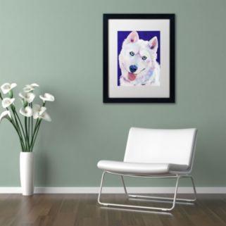 "Trademark Fine Art ""Whitey"" Framed Canvas Wall Art by Pat Saunders"