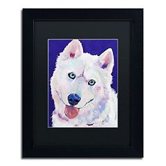 Trademark Fine Art 'Whitey' Framed Canvas Wall Art by Pat Saunders