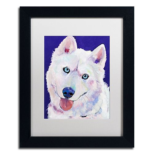 "Trademark Fine Art ""Whitey"" Framed Canvas Wall Art by Pat Saunders"