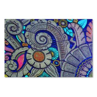 "Trademark Fine Art ""Flower Power"" Canvas Wall Art by Patty Tuggle"