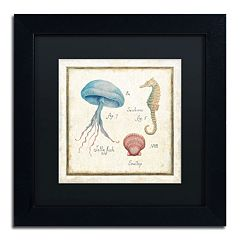 Trademark Fine Art 'Oceanography III' Framed Canvas Wall Art by Daphne Brissonnet