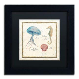 "Trademark Fine Art ""Oceanography III"" Framed Canvas Wall Art by Daphne Brissonnet"