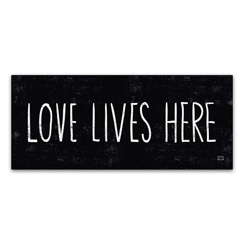 "Trademark Fine Art ""Love Lives Here"" Canvas Wall Art by Michael Mullan"