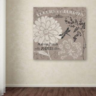 """Trademark Fine Art """"French Linen Garden II"""" Canvas Wall Art by Daphne Brissonnet"""
