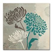 Trademark Fine Art 'Chrysanthemums II' Canvas Wall Art