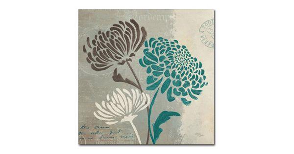 trademark fine art chrysanthemums ii canvas wall art. Black Bedroom Furniture Sets. Home Design Ideas