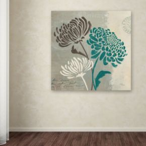 """Trademark Fine Art """"Chrysanthemums II"""" Canvas Wall Art"""
