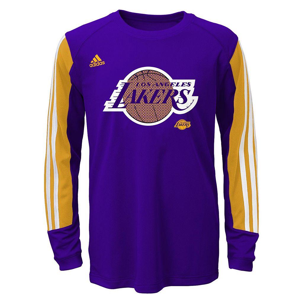 Boys 8-20 adidas Los Angeles Lakers Prestige climalite Tee