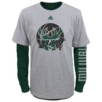 Boys 8-20 adidas Milwaukee Bucks Cager Tee Set