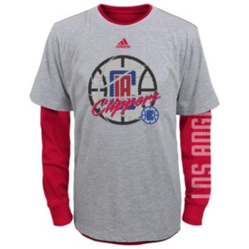 Boys 8-20 adidas Los Angeles Clippers Cager Tee Set