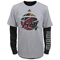 Boys 8-20 adidas Miami Heat Cager Tee Set