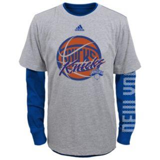 Boys 8-20 adidas New York Knicks Cager Tee Set