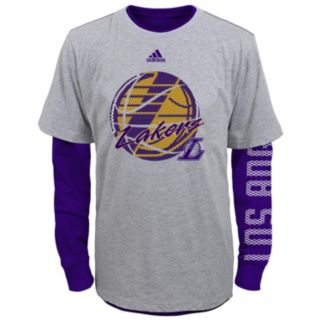 Boys 8-20 adidas Los Angeles Lakers Cager Tee Set