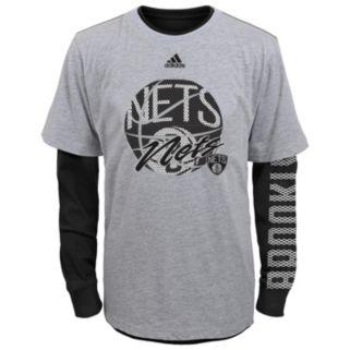 Boys 8-20 adidas Brooklyn Nets Cager Tee Set