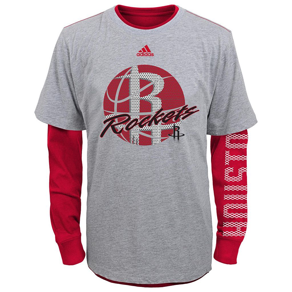 Boys 8-20 adidas Houston Rockets Cager Tee Set