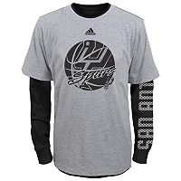 Boys 8-20 adidas San Antonio Spurs Cager Tee Set