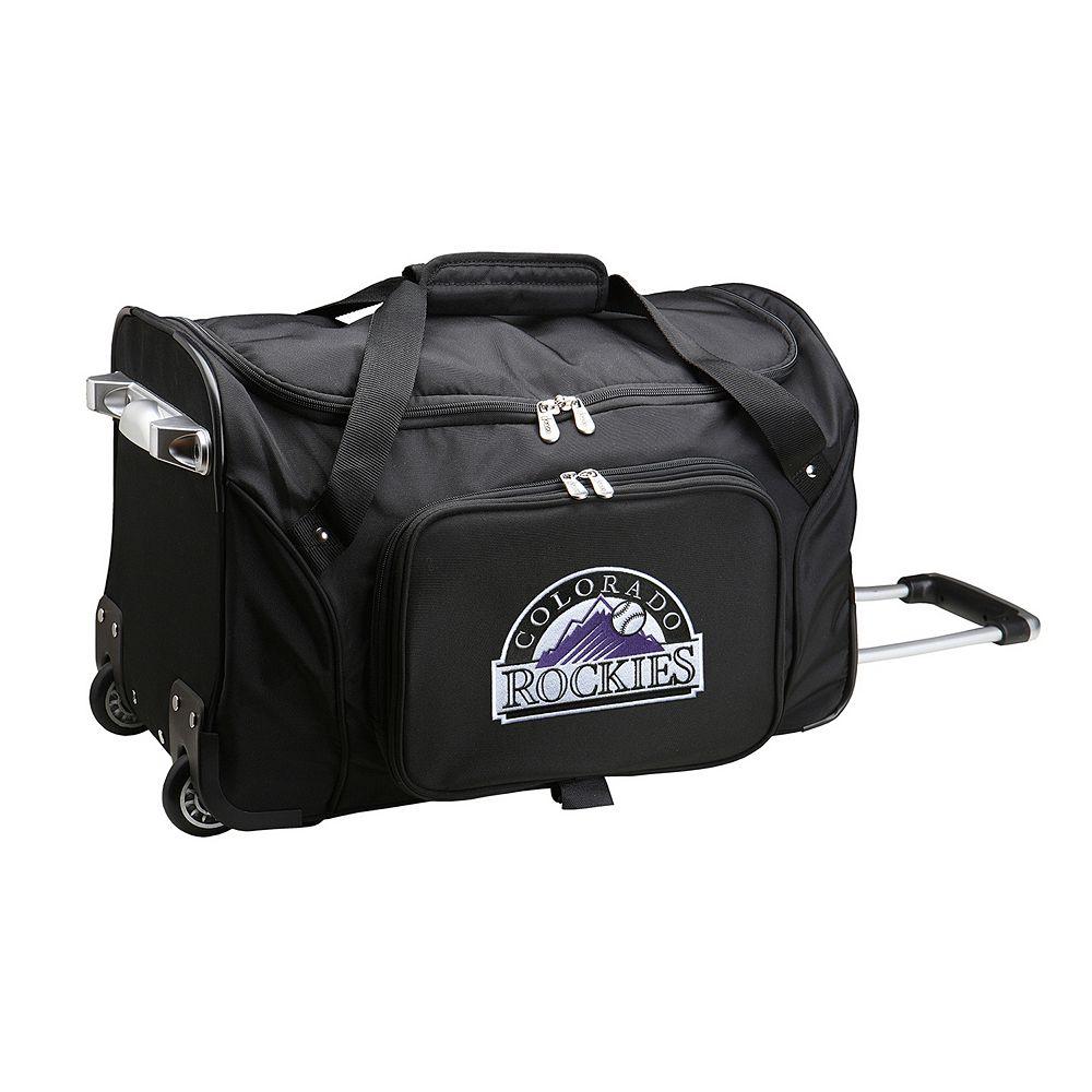Denco Colorado Rockies 22-Inch Wheeled Duffel Bag