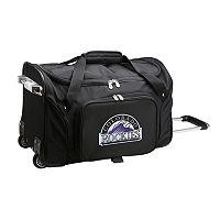 Denco Colorado Rockies 22-Inch Wheeled Duffel Bag
