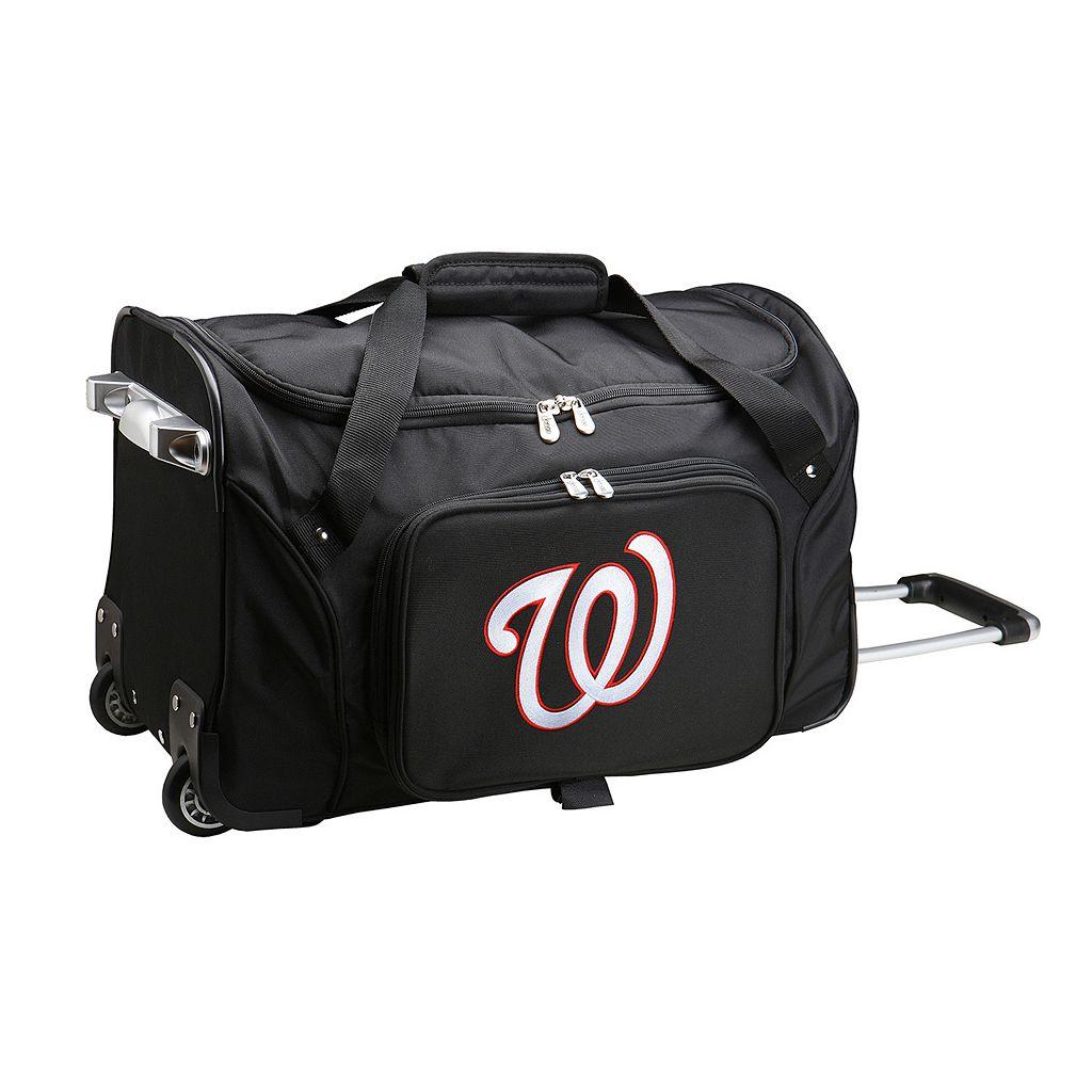 Denco Washington Nationals 22-Inch Wheeled Duffel Bag