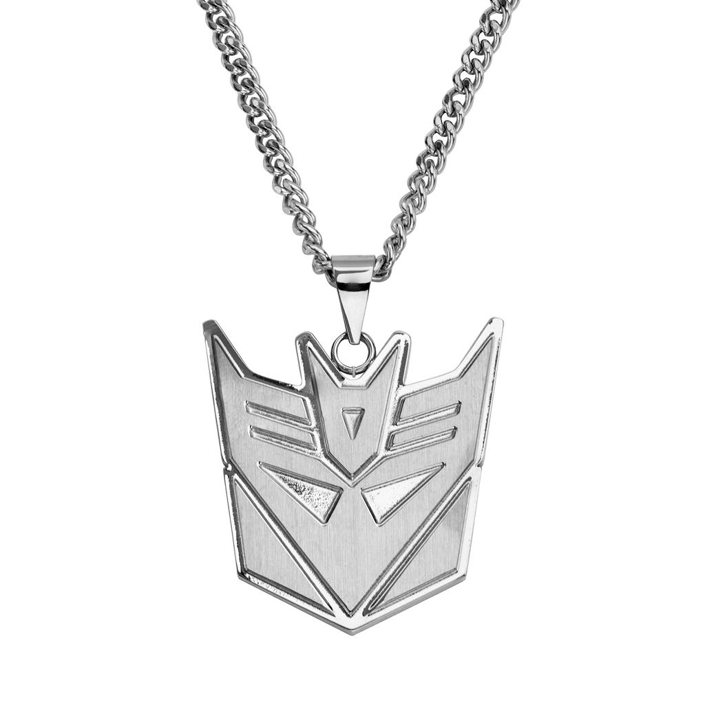 Transformers Stainless Steel Decepticon Pendant Necklace - Men