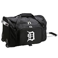 Denco Detroit Tigers 22-Inch Wheeled Duffel Bag