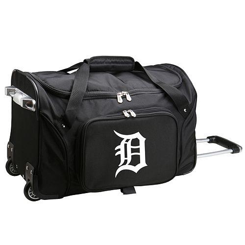 Denco Detroit Tigers 22-Inch Wheeled Duffel Bag