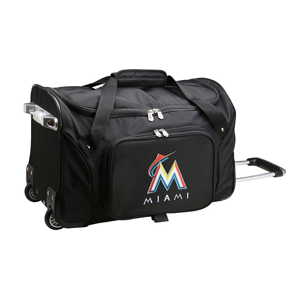 Denco Miami Marlins 22-Inch Wheeled Duffel Bag