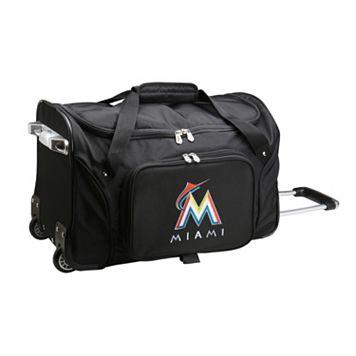 Denco Miami Marlins 22-Inch Wheeled Duffel Bag