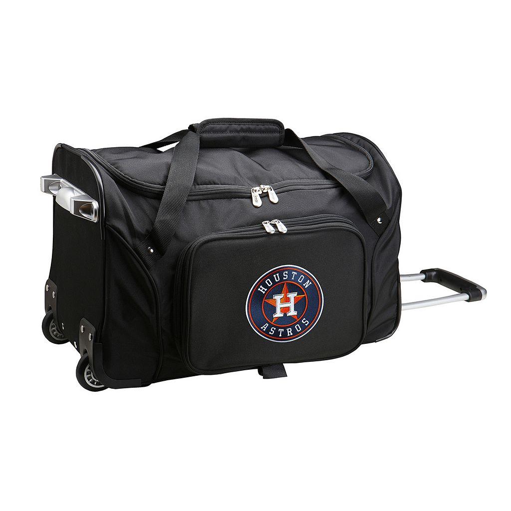 Denco Houston Astros 22-Inch Wheeled Duffel Bag