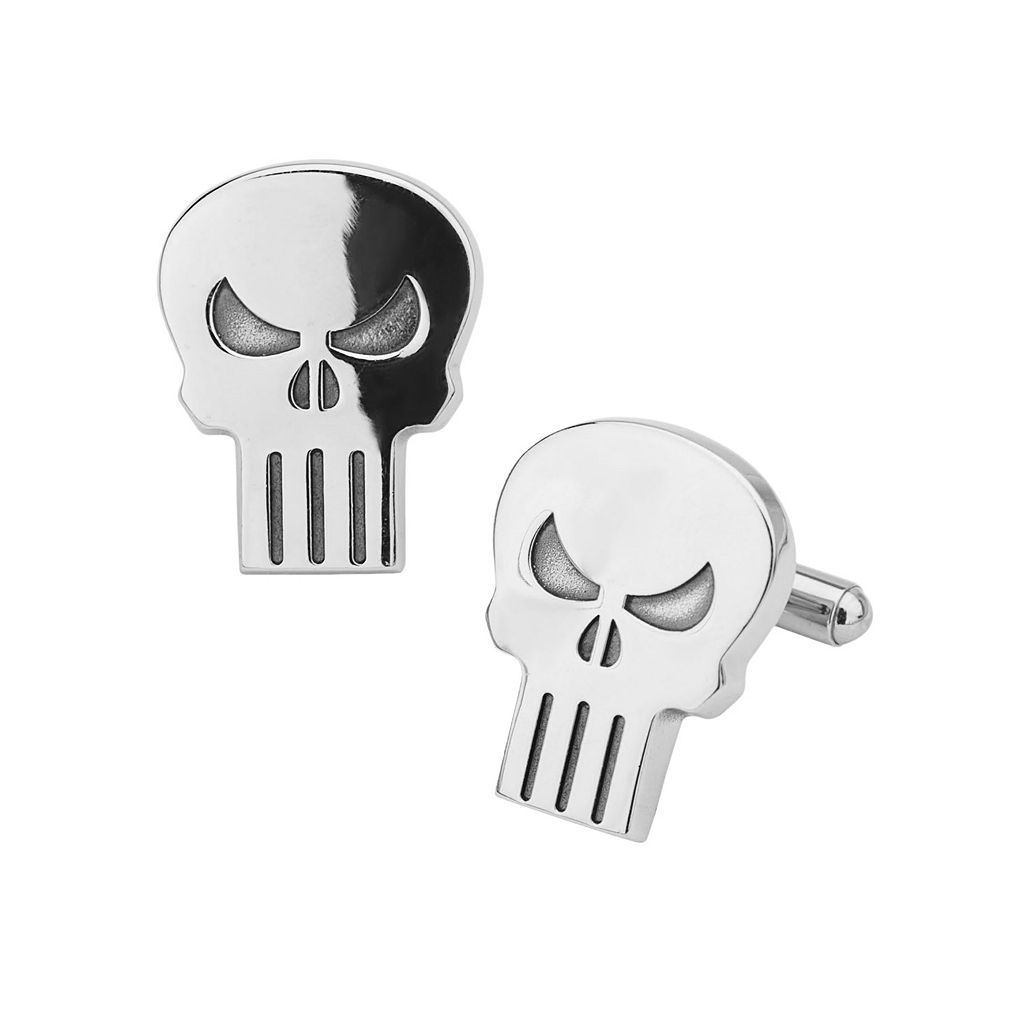The Punisher Stainless Steel Cuff Links