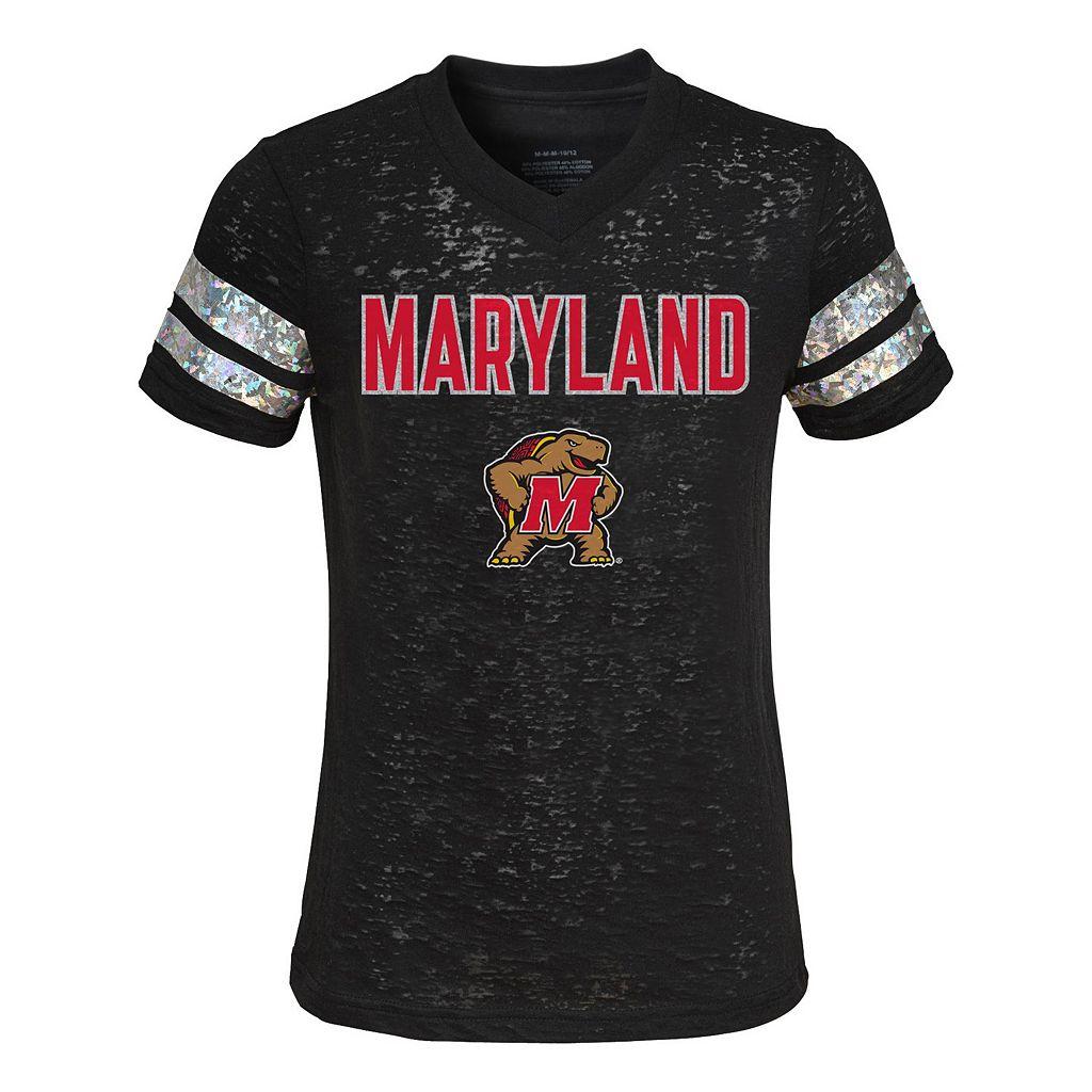 Girls 4-6x Maryland Terrapins Opal Burnout Tee
