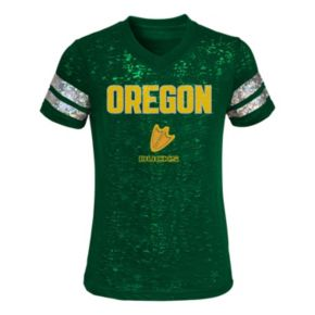 Girls 4-6x Oregon Ducks Opal Burnout Tee