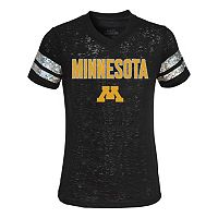 Girls 4-6x Minnesota Golden Gophers Opal Burnout Tee