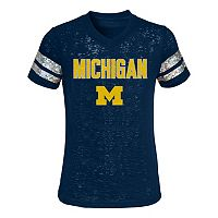 Girls 4-6x Michigan Wolverines Opal Burnout Tee