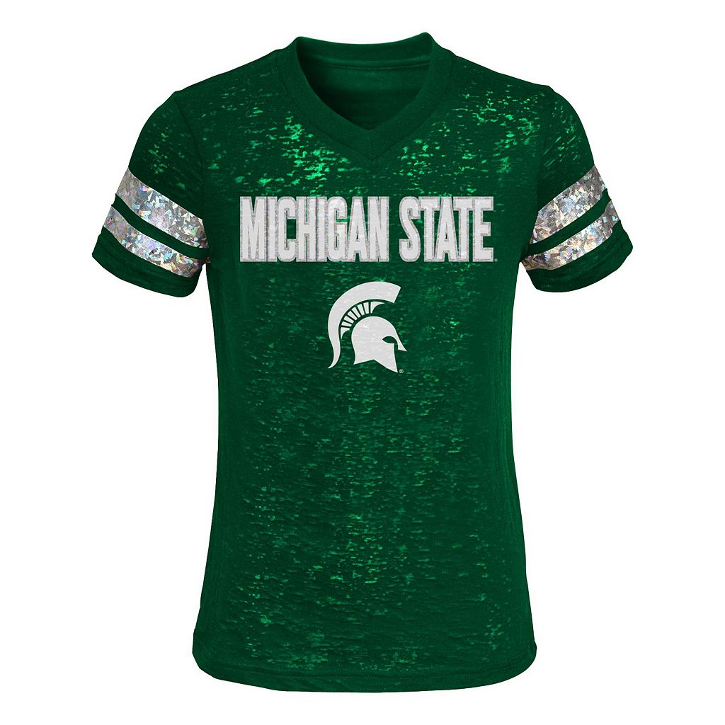 Girls 4-6x Michigan State Spartans Opal Burnout Tee